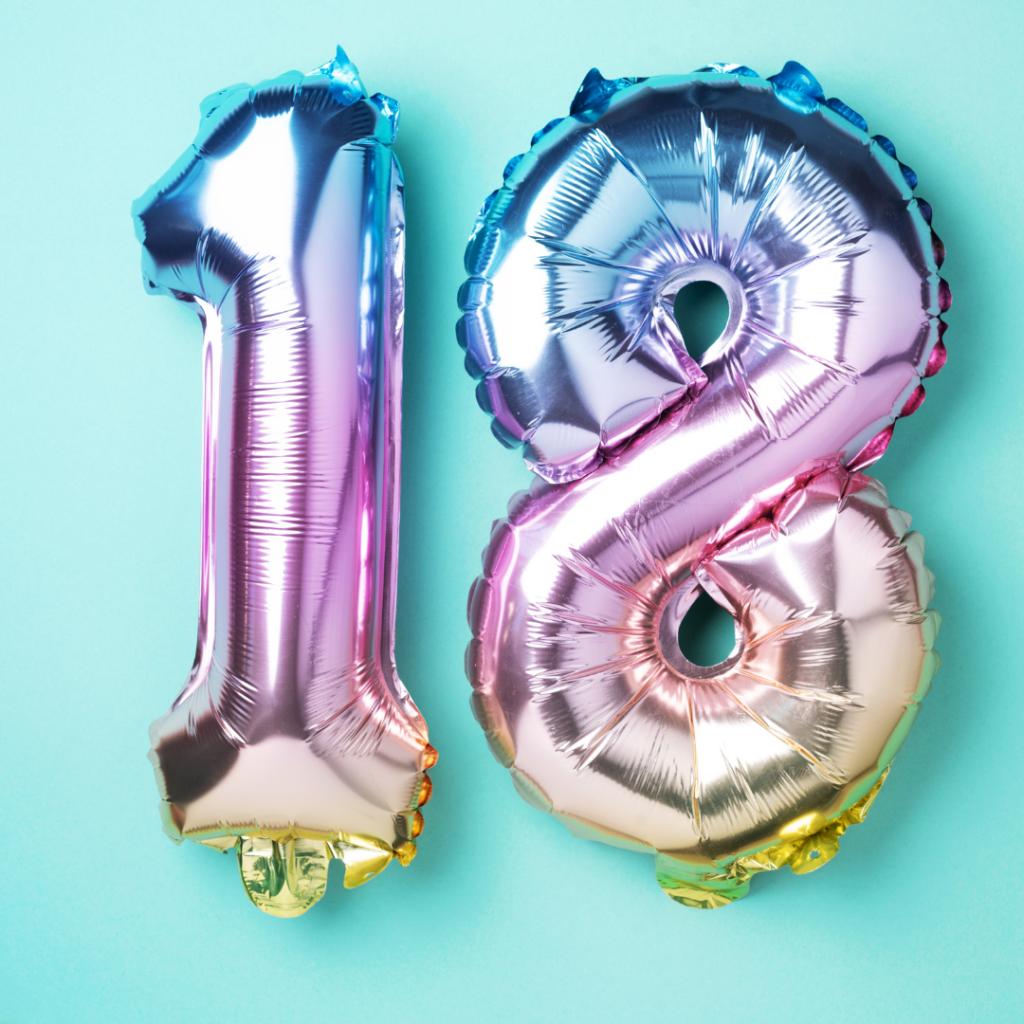 18 balloons